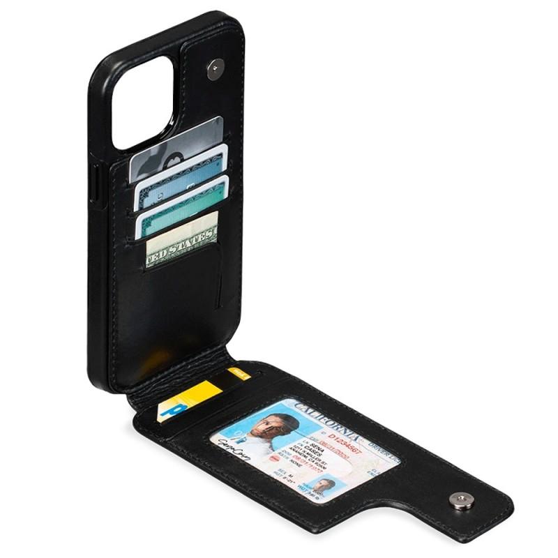 Sena Wallet Skin iPhone 12 Pro Max Zwart - 2