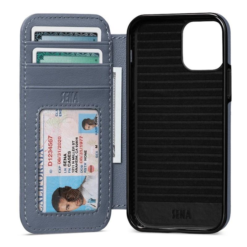 Sena WalletBook iPhone 12 / 12 Pro Blauw - 1