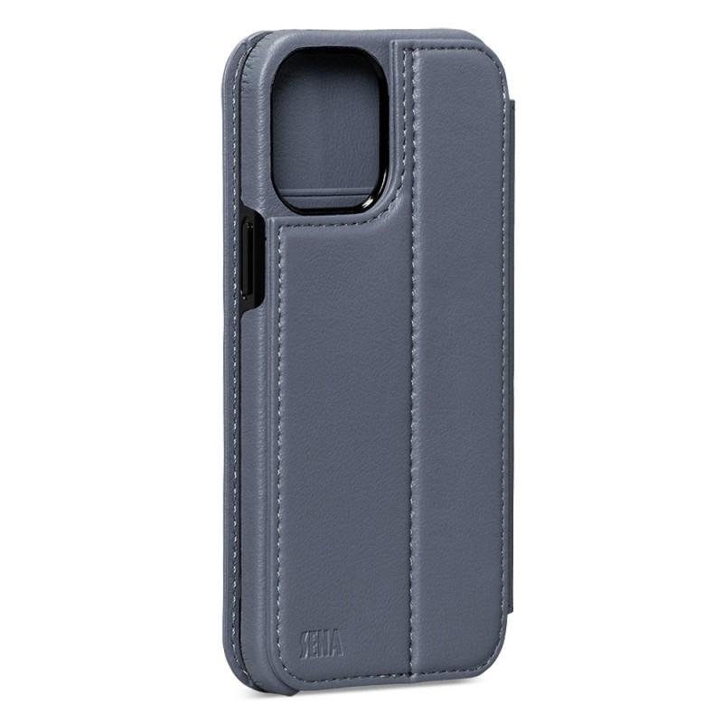Sena WalletBook iPhone 12 / 12 Pro Blauw - 2