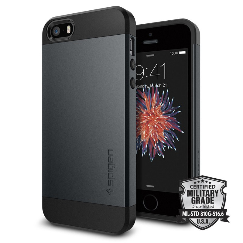 Spigen Slim Armor Case iPhone SE / 5S / 5 Metal Slate - 4