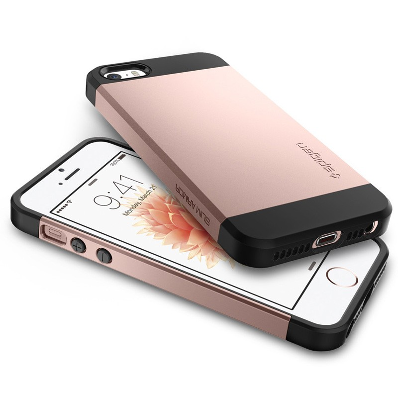 Spigen Slim Armor Case iPhone SE / 5S / 5 Rose Gold - 3
