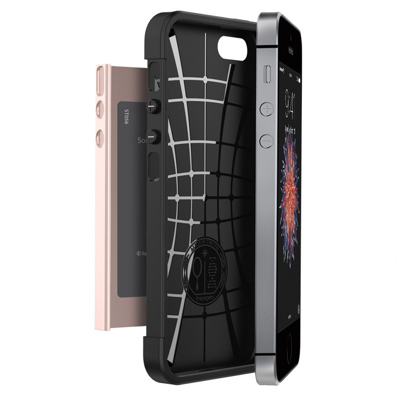 Spigen Slim Armor Case iPhone SE / 5S / 5 Rose Gold - 5