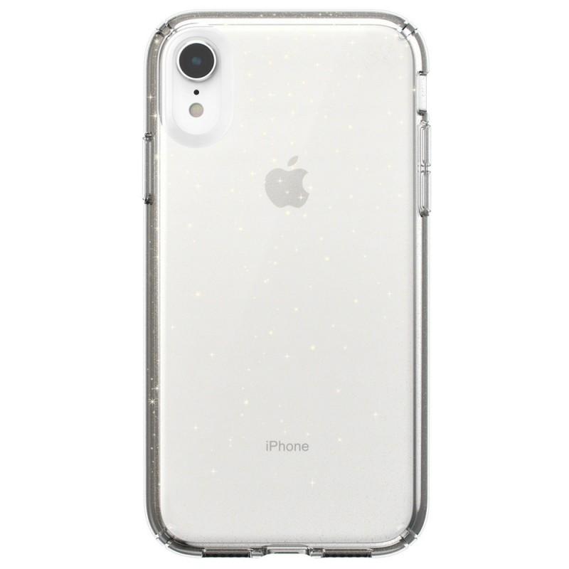 Speck Presidio Clear Glitter iPhone XR Hoesje Roze Goud Glitter 01