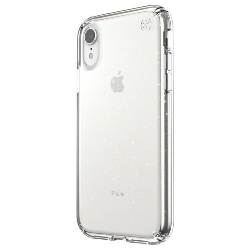 Speck Presidio Clear Glitter iPhone XR Hoesje Roze Goud Glitter 02