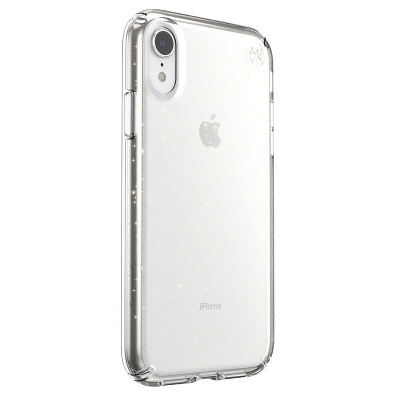 Speck Presidio Clear Glitter iPhone XR Hoesje Roze Goud Glitter 4