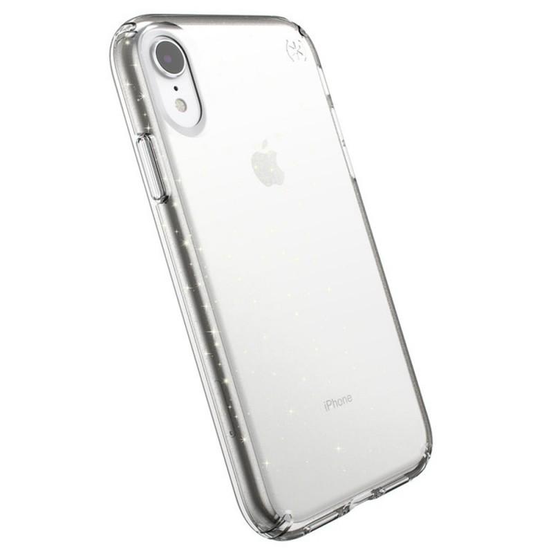 Speck Presidio Clear Glitter iPhone XR Hoesje Roze Goud Glitter 06
