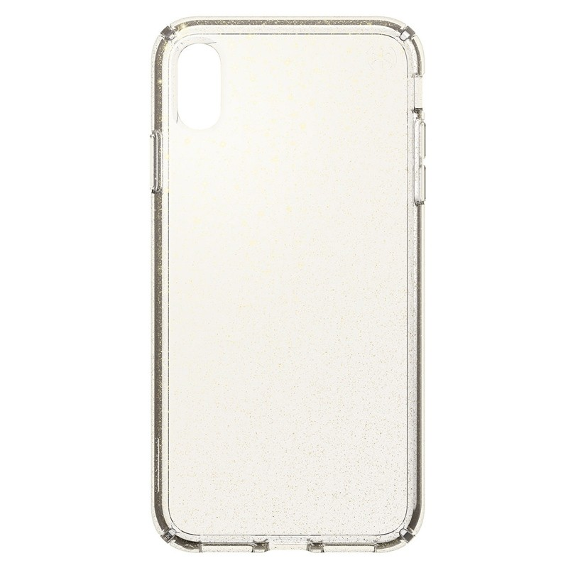 Speck Presidio Clear Glitter iPhone XS Max Case Goud/Transparant 01