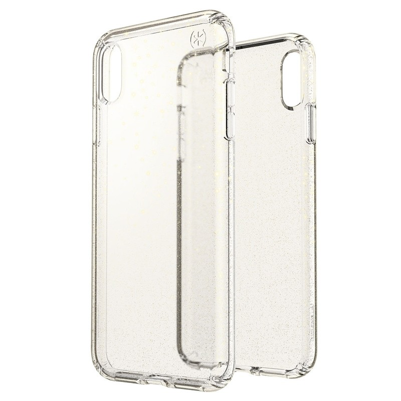 Speck Presidio Clear Glitter iPhone XS Max Case Goud/Transparant 05