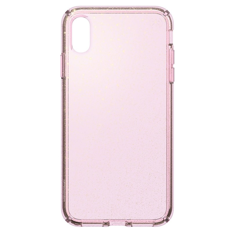 Speck Presidio Clear Glitter iPhone XS Max Case Roze/Transparant 01
