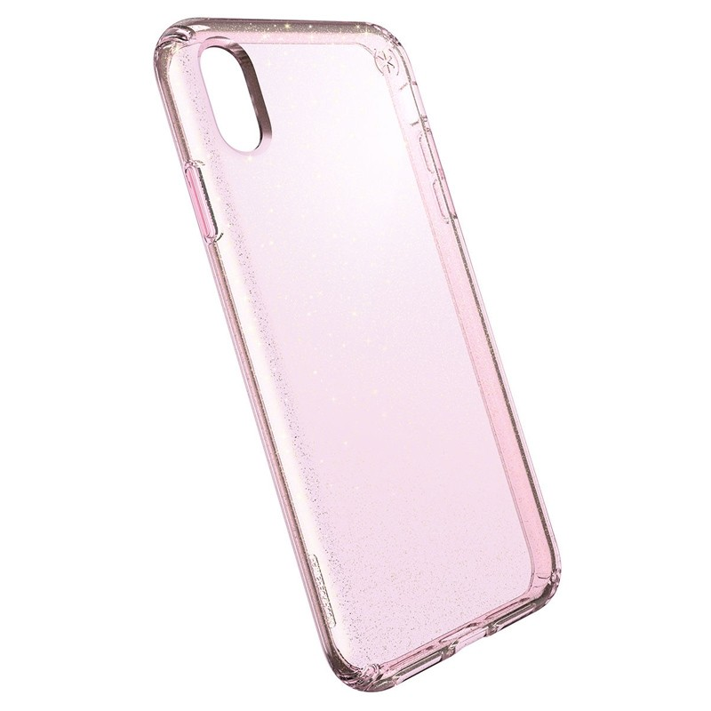 Speck Presidio Clear Glitter iPhone XS Max Case Roze/Transparant 03