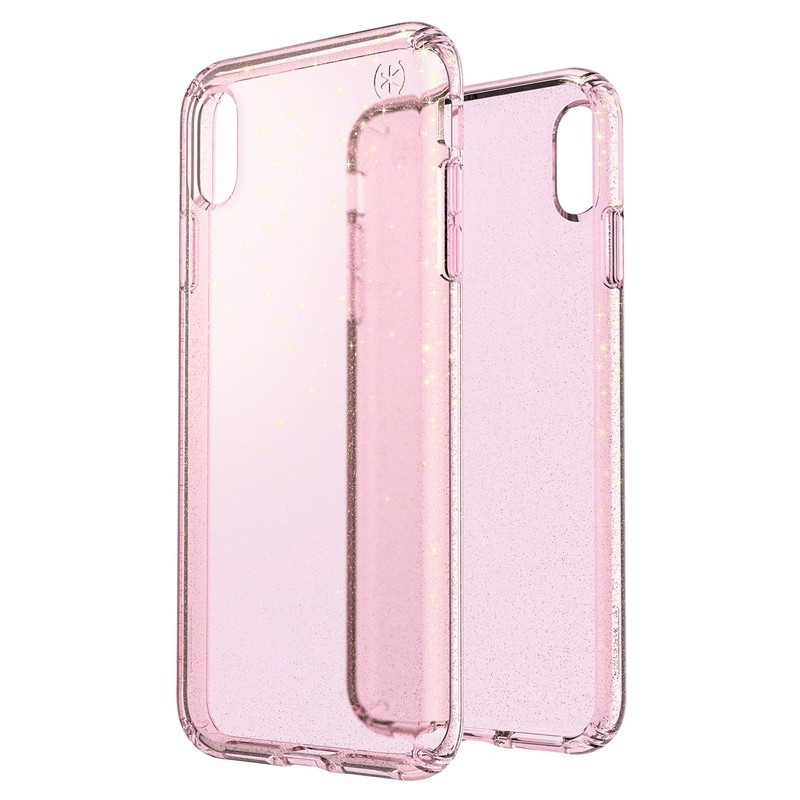 Speck Presidio Clear Glitter iPhone XS Max Case Roze/Transparant 05