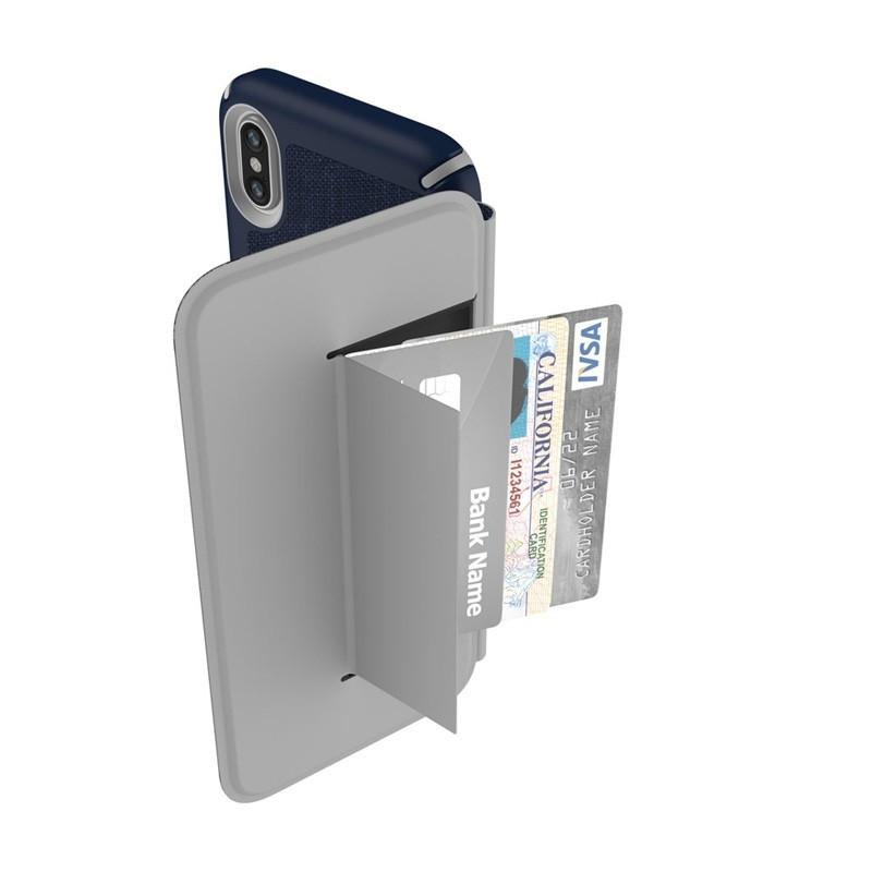 Speck Presidio Folio iPhone X/XS Hoesje Blauw - 4
