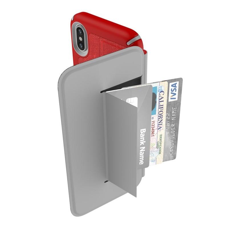 Speck Presidio Folio iPhone X/XS Hoesje Rood - 2