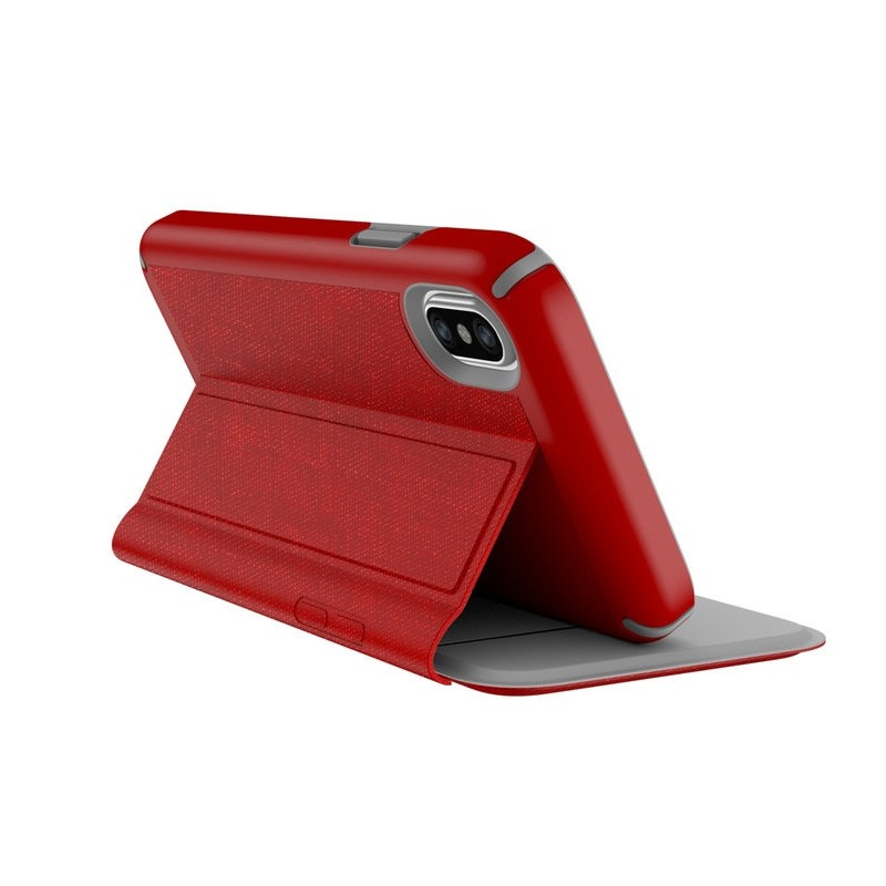 Speck Presidio Folio iPhone X/XS Hoesje Rood - 3
