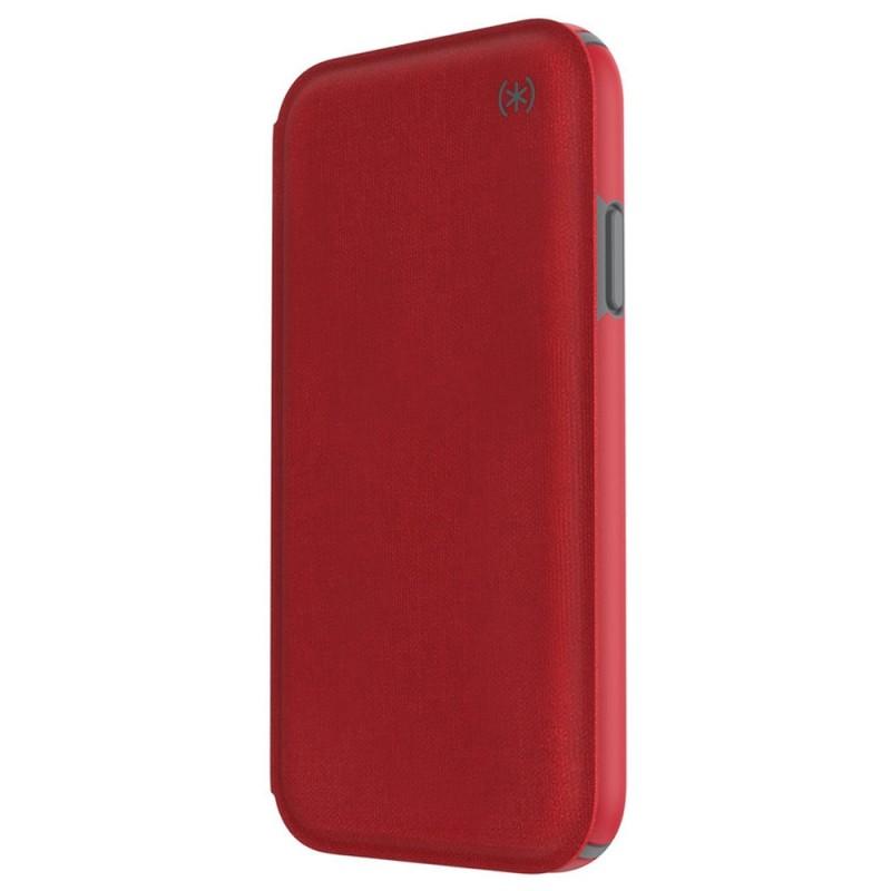 Speck Presidio Folio iPhone XR Hoesje Rood 09