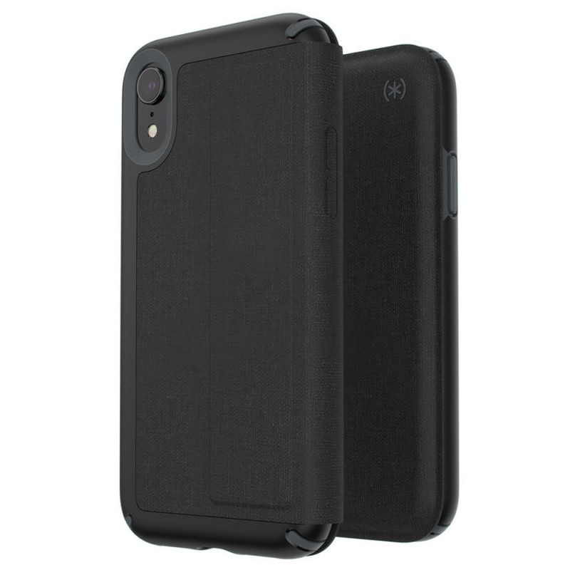 Speck Presidio Folio iPhone XR Hoesje Zwart 06