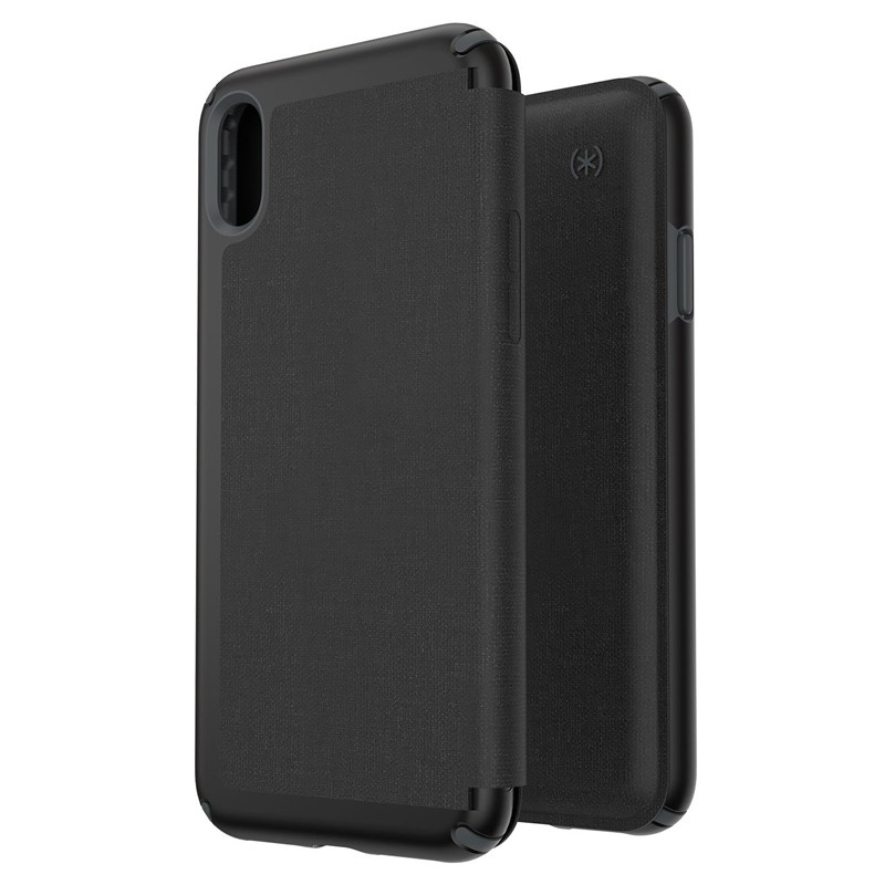Speck Presidio Folio iPhone XS Max Case Zwart 05