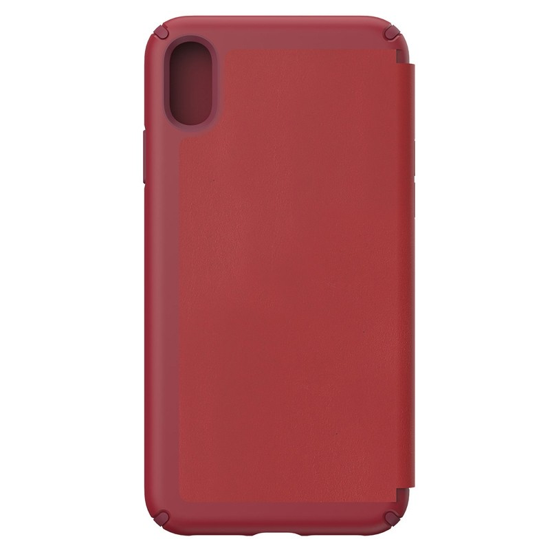 Speck Presidio Leather Folio iPhone XS Max Case Rood 02