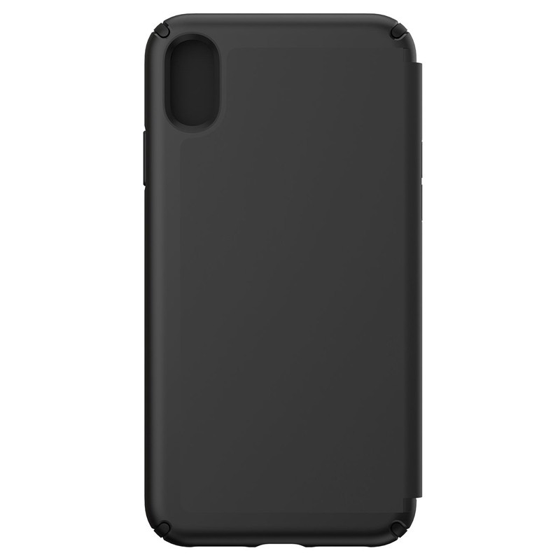 Speck Presidio Leather Folio iPhone XS Max Case Zwart 02