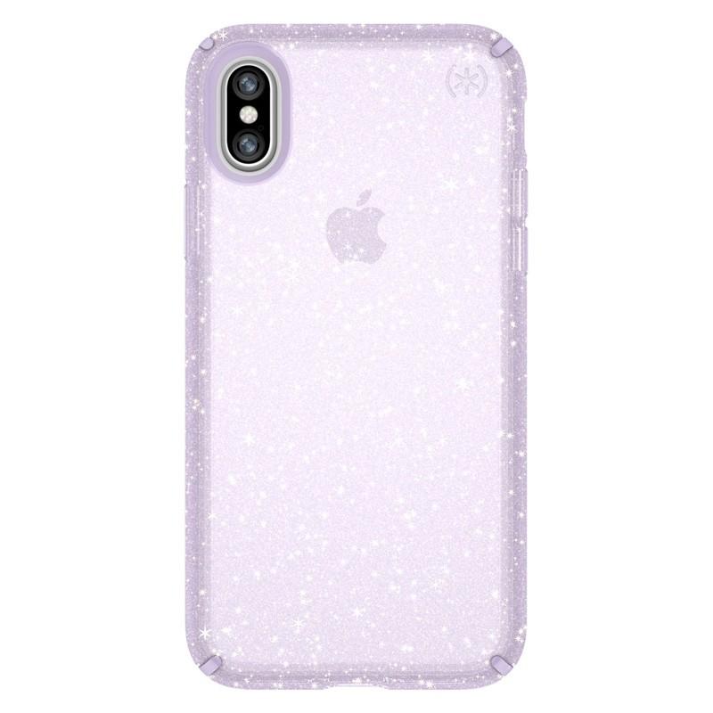 Speck Presidio Clear Glitter iPhone X/XS Hoesje Paars - 1