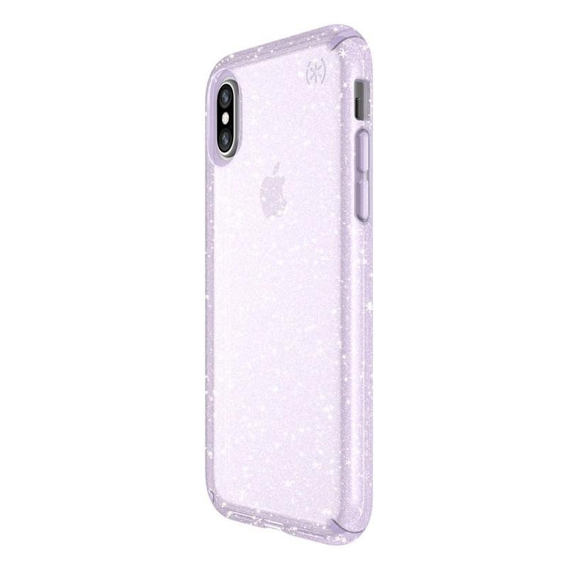 Speck Presidio Clear Glitter iPhone X/XS Hoesje Paars - 2
