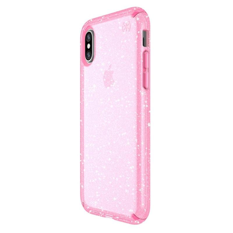 Speck Presidio Clear Glitter iPhone X/XS Hoesje Roze - 3