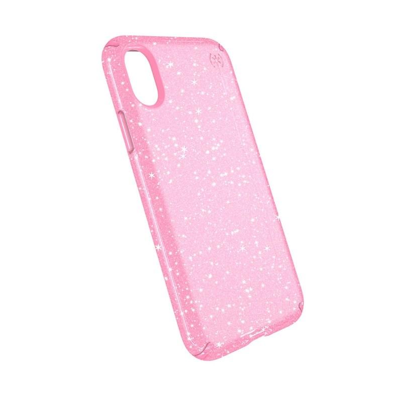 Speck Presidio Clear Glitter iPhone X/XS Hoesje Roze - 2