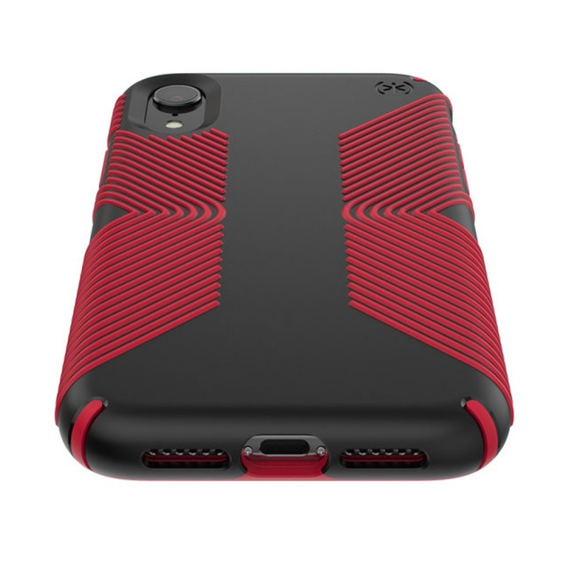 Speck Presidio Grip Case iPhone XR Rood Zwart 03