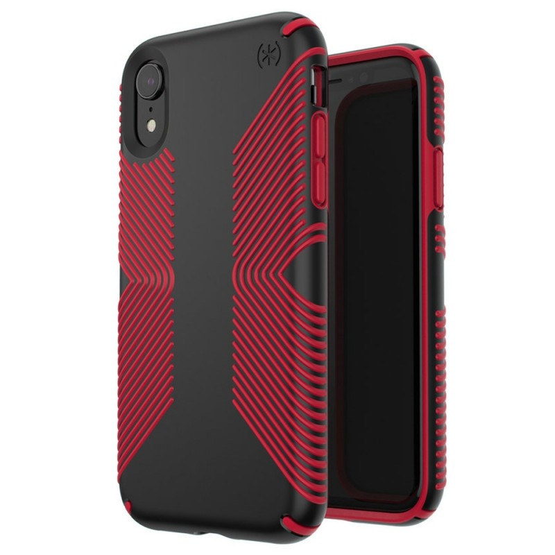 Speck Presidio Grip Case iPhone XR Rood Zwart 05