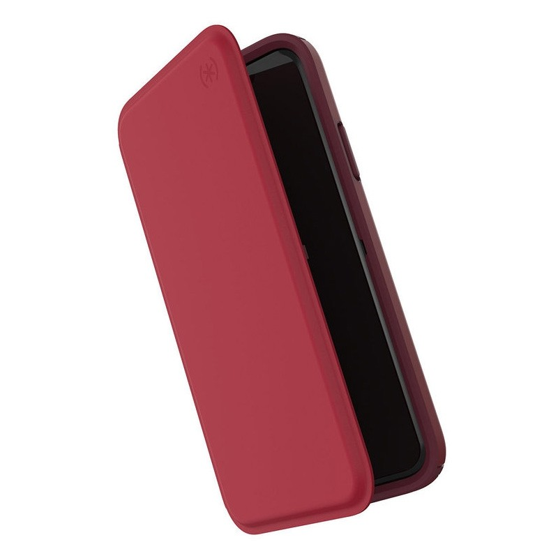 Speck Presidio Folio Leather iPhone X/XS Hoesje Rood - 1