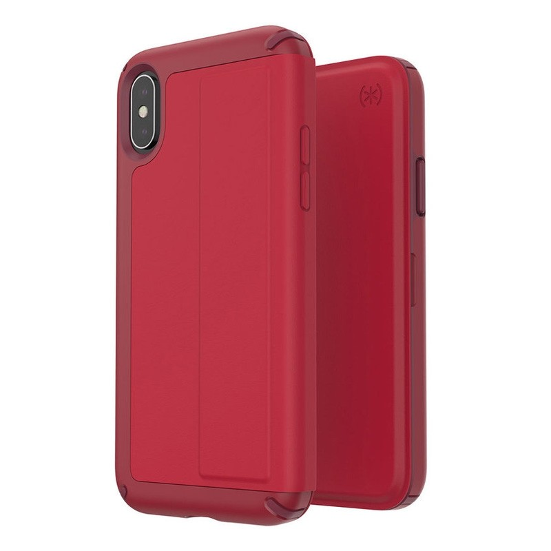 Speck Presidio Folio Leather iPhone X/XS Hoesje Rood - 2