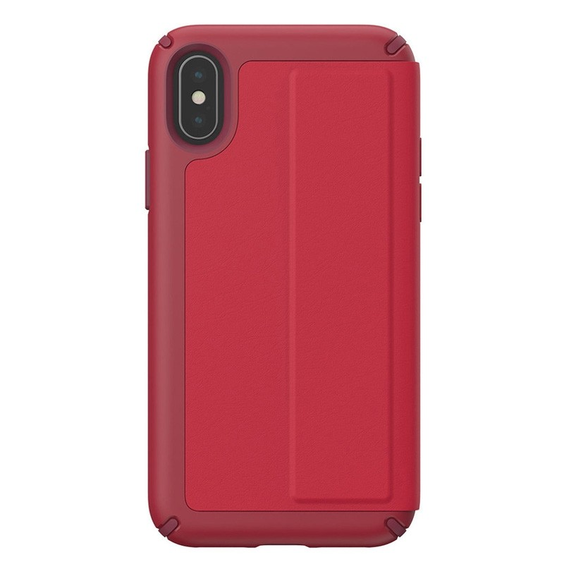Speck Presidio Folio Leather iPhone X/XS Hoesje Rood - 4