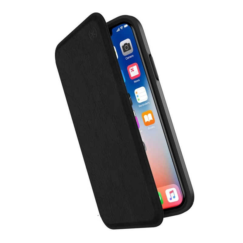 Speck Presidio Folio Leather iPhone X/XS Hoesje Zwart - 1