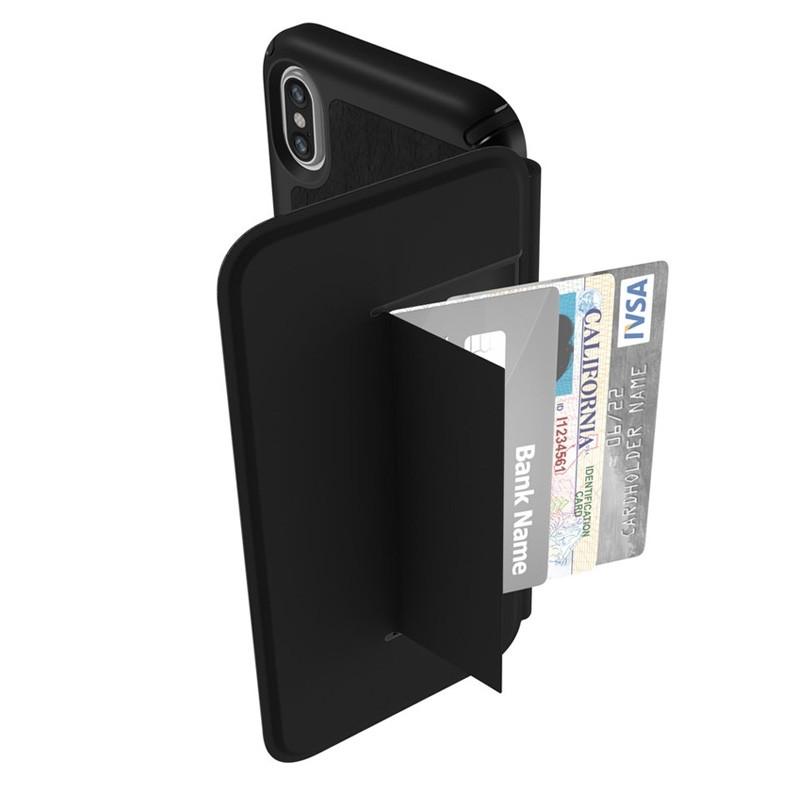 Speck Presidio Folio Leather iPhone X/XS Hoesje Zwart - 2