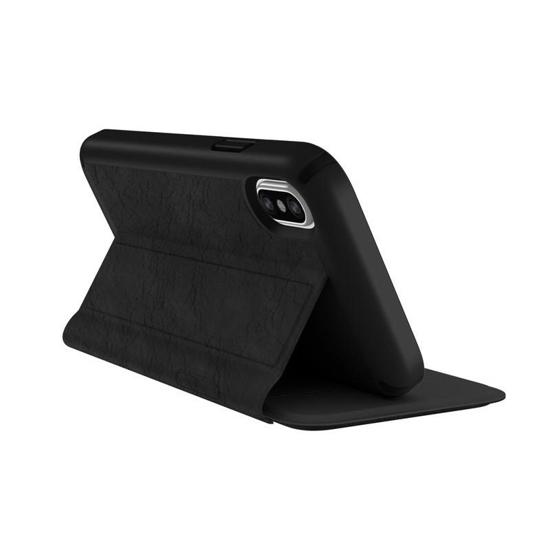 Speck Presidio Folio Leather iPhone X/XS Hoesje Zwart - 4