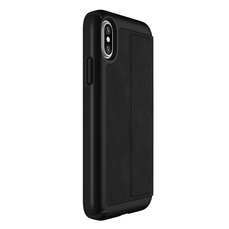 Speck Presidio Folio Leather iPhone X/XS Hoesje Zwart - 5