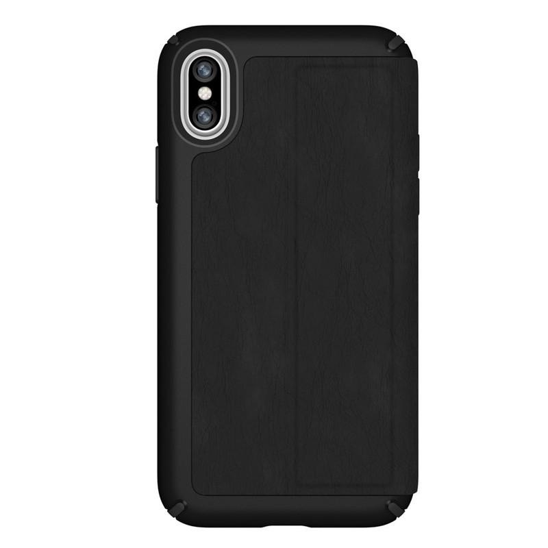 Speck Presidio Folio Leather iPhone X/XS Hoesje Zwart - 7