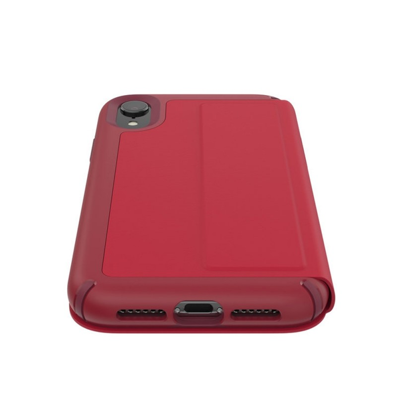 Speck Presidio Leather Folio iPhone XR Hoesje Rood 06
