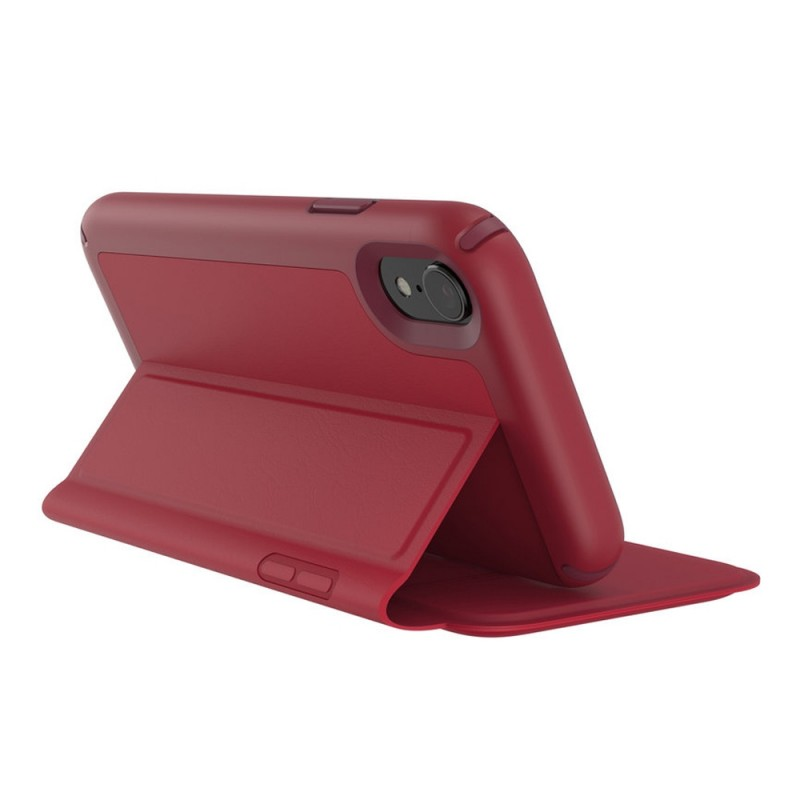 Speck Presidio Leather Folio iPhone XR Hoesje Rood 08