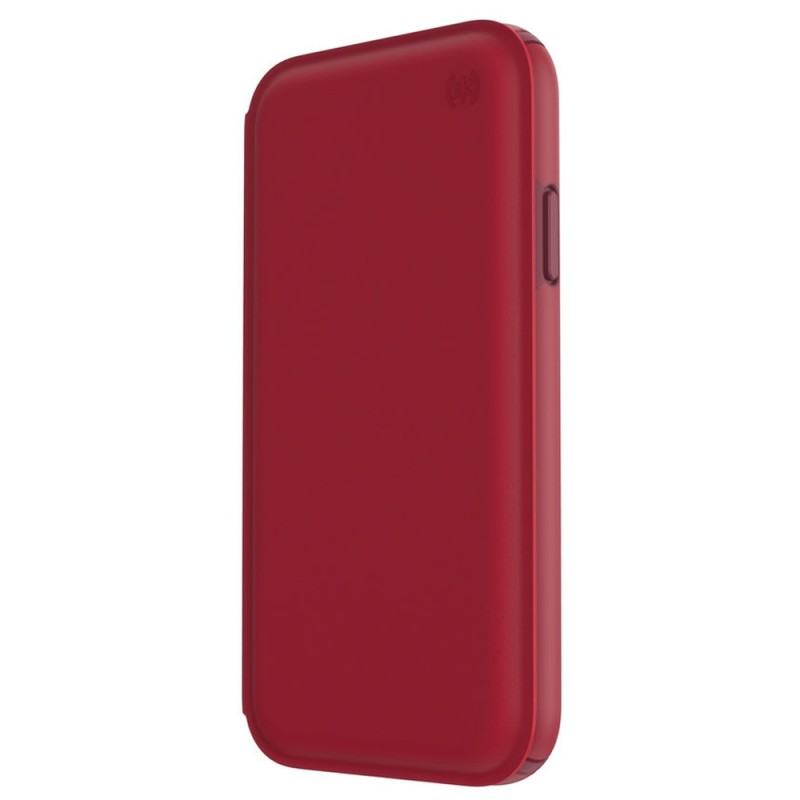 Speck Presidio Leather Folio iPhone XR Hoesje Rood 10