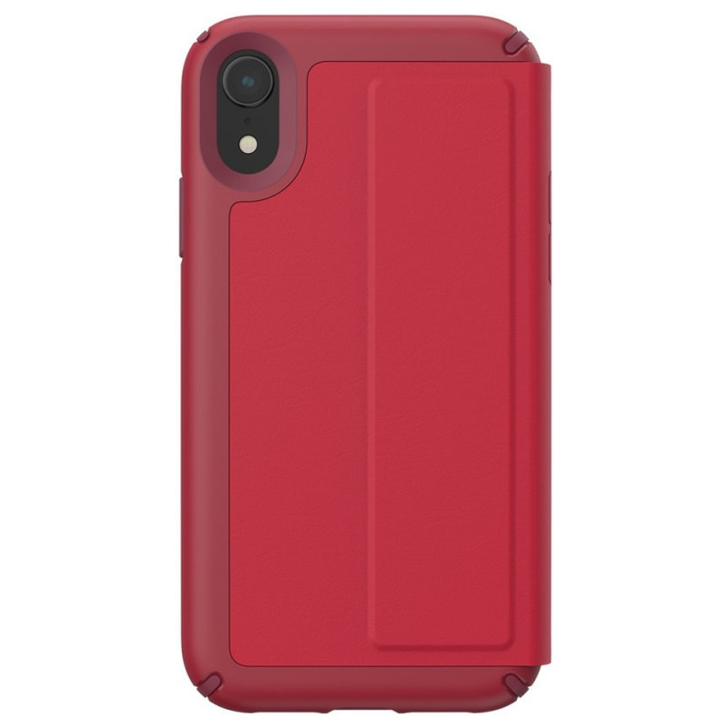 Speck Presidio Leather Folio iPhone XR Hoesje Rood 11