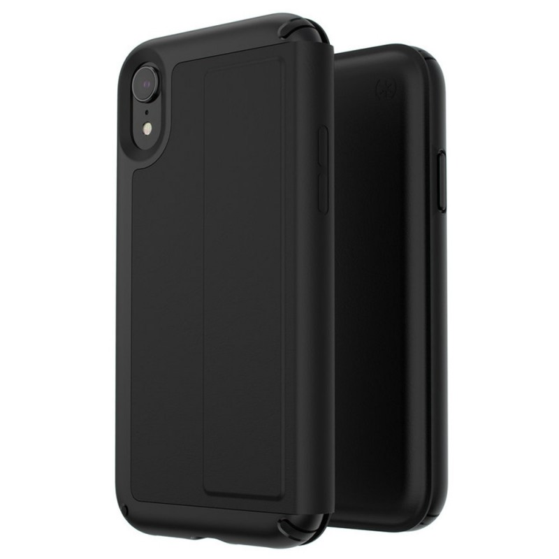 Speck Presidio Leather Folio iPhone XR Hoesje Zwart 07
