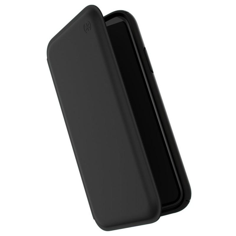 Speck Presidio Leather Folio iPhone XR Hoesje Zwart 01