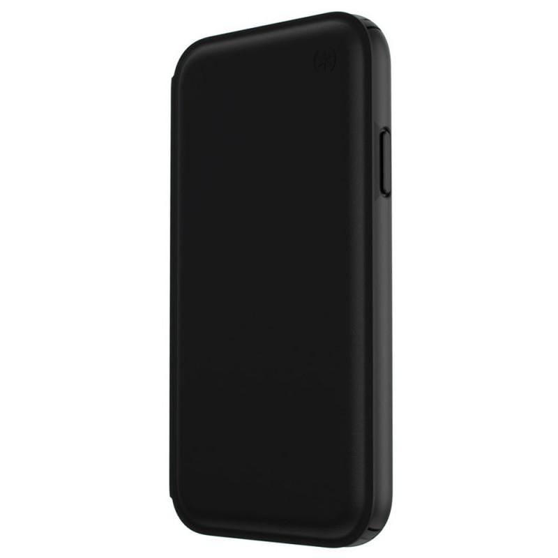 Speck Presidio Leather Folio iPhone XR Hoesje Zwart 09