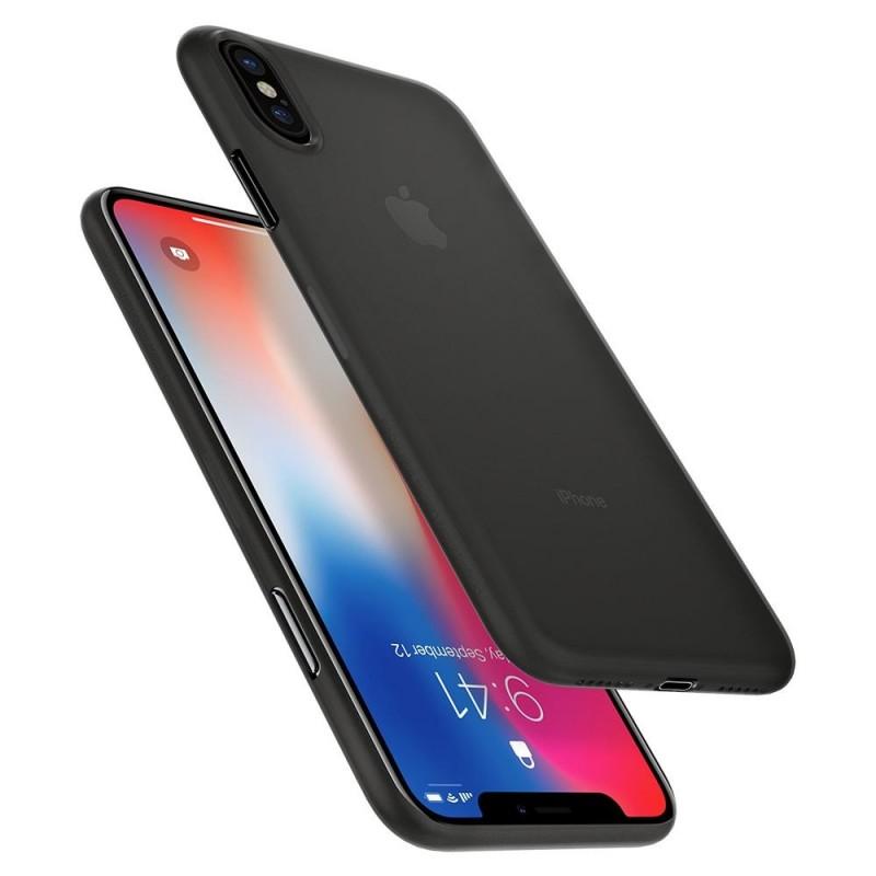 Spigen AirSkin iPhone X/Xs Hoesje Zwart - 4