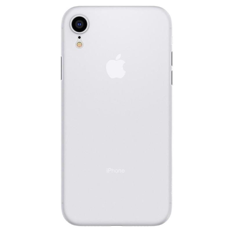 Spigen Air Skin iPhone XR Hoesje Matte wit transparant 01