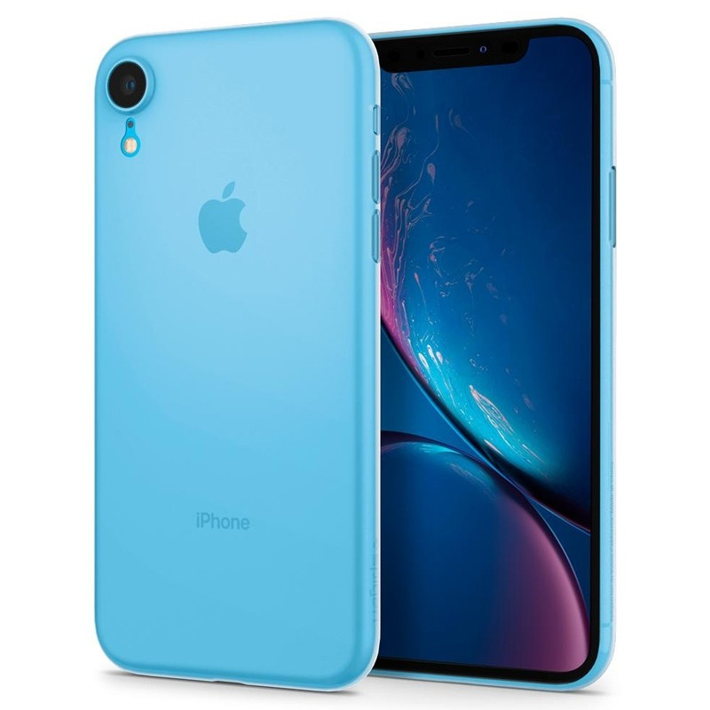 Spigen Air Skin iPhone XR Hoesje Matte wit transparant 04