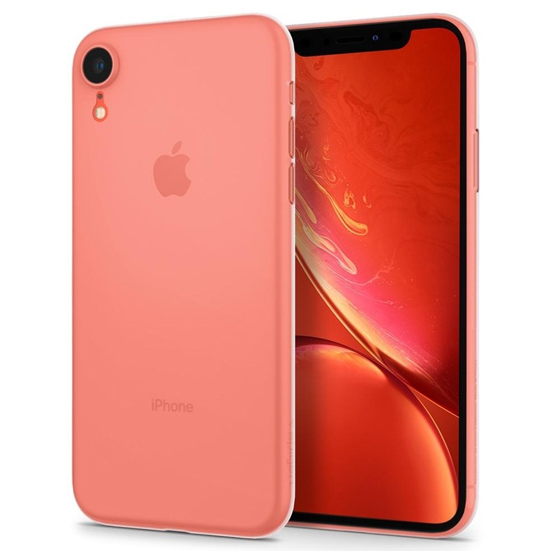 Spigen Air Skin iPhone XR Hoesje Matte wit transparant 05