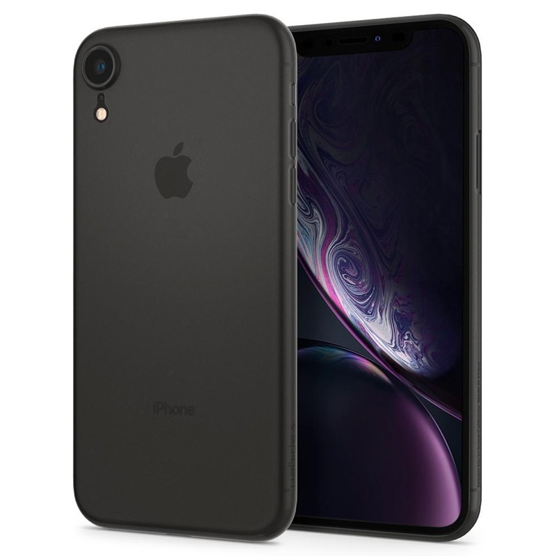 Spigen Air Skin iPhone XR Hoesje Zwart 02
