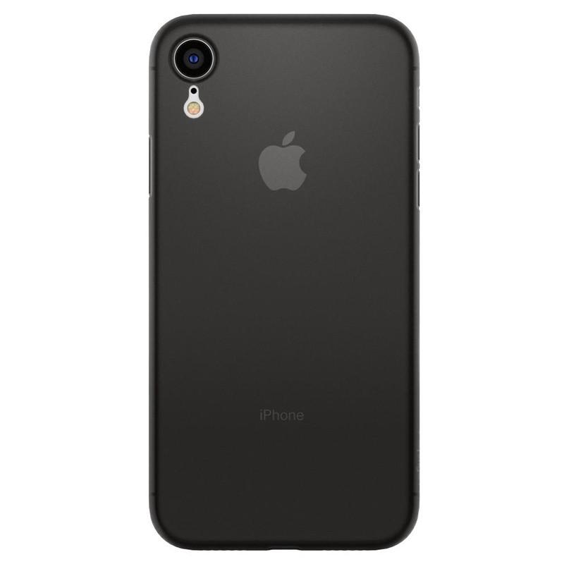 Spigen Air Skin iPhone XR Hoesje Zwart 01